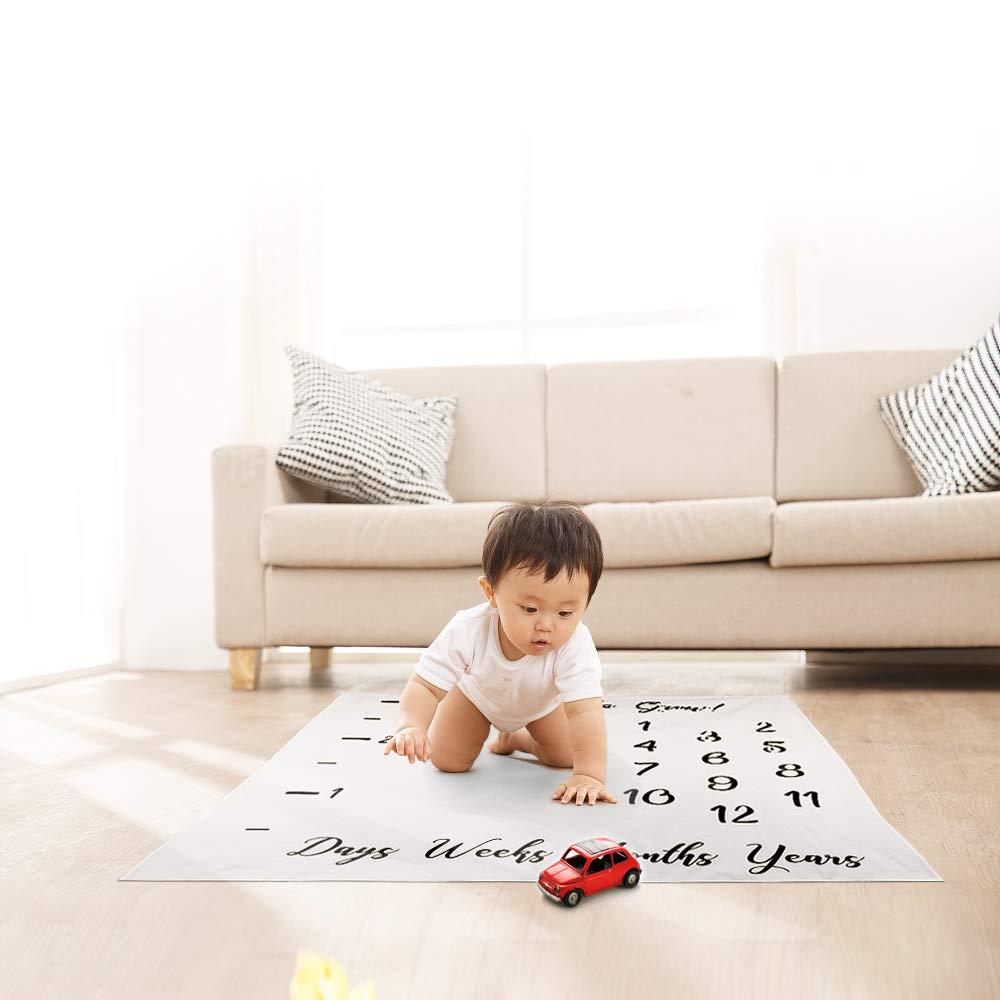 Hifot Baby Monatlich Meilenstein Decke Neugeborenes Fotografie Hintergrund St/ütze Prop Junge M/ädchen Wachstum Hintergrund Foto Mats