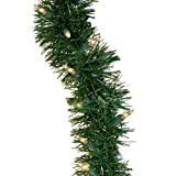 GE Holiday Classics 36 ft. Pre-Lit Garland with Clear Lights