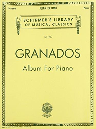 Album for Piano: Schirmer Library of Classics Volume 1986 Piano Solo (Schirmer's Library of Musical Classics)