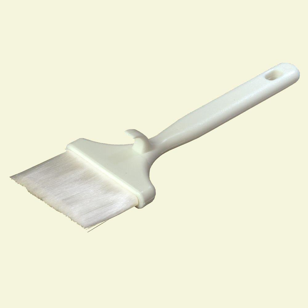 White Sparta Meteor Pastry Brush - 3 inch Wide Nylon Bristle with Hook Handle -- 12 per case