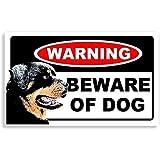 Rottweiler Dog - Beware Sticker For Home Door / Car Sign