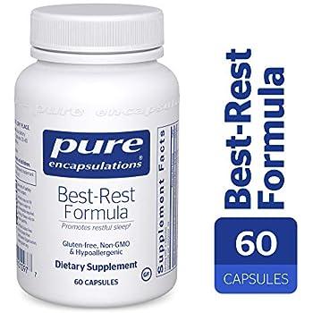 Pure Encapsulations - Best-Rest Formula - Hypoallergenic Supplement for Restful Sleep* - 60 Capsules