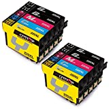 CMTOP 2 Set+2 Black Remanufactured 220 220XL Ink Cartridges High Yiled (4 Black, 2 Cyan, 2 Magenta, 2 Yellow) for Expression Home XP-420 XP-320 XP-424 WF-2630 WF-2650 WF-2760 WF-2660 WF-2750 Printer