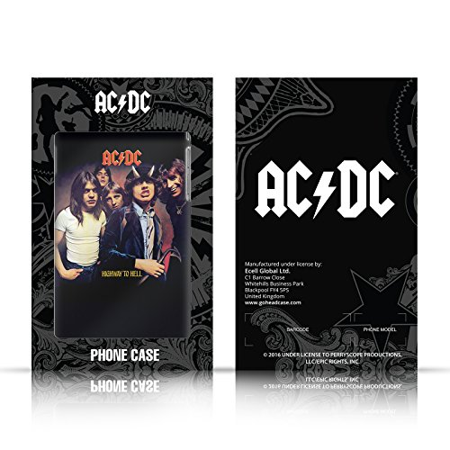 Officiel AC/DC ACDC Studio De Band A Tiré Photo De Groupe Argent Étui Coque Aluminium Bumper Slider pour Apple iPhone 5 / 5s / SE