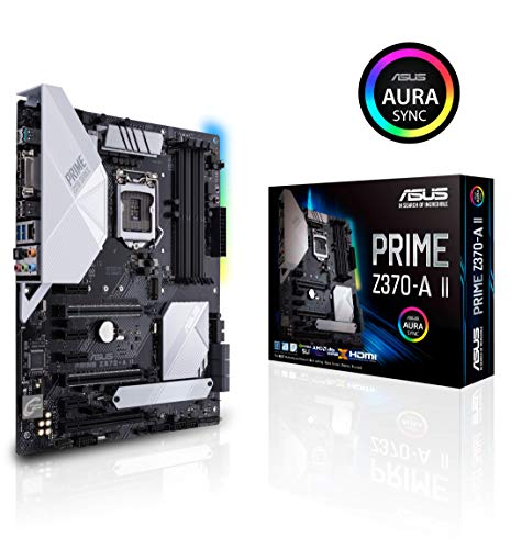 Mainboard Motherboard - ASUS Prime Z370-A II (Intel 9th Gen) DDR4 DP HDMI DVI M.2 USB 3.1 Z370 II ATX Motherboard Gigabit LAN and USB 3.1