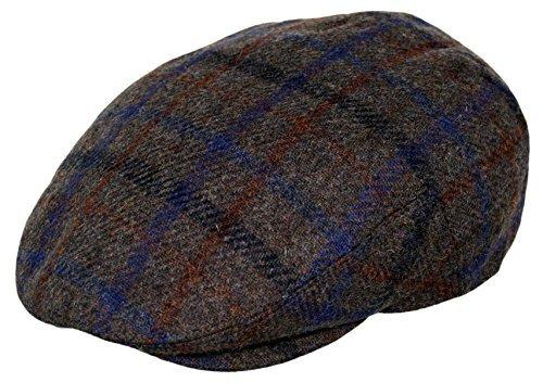 Golf Collection (Men's Premium Wool Blend Classic Flat Ivy Newsboy Collection Hat ,Big Plaid Brown, Medium)