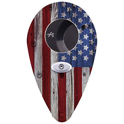 - Xikar Xi1 Custom Cigar Cutter, USA Flag Theme, Stainless Steel, Lock System, Cuts 54 Ring Gauge Cigars, Amazon Exclusive
