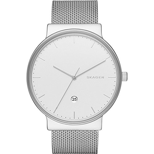 Skagen Men's SKW6290 Ancher Stainless Steel Mesh Watch (Skagen Stainless Steel Watch compare prices)