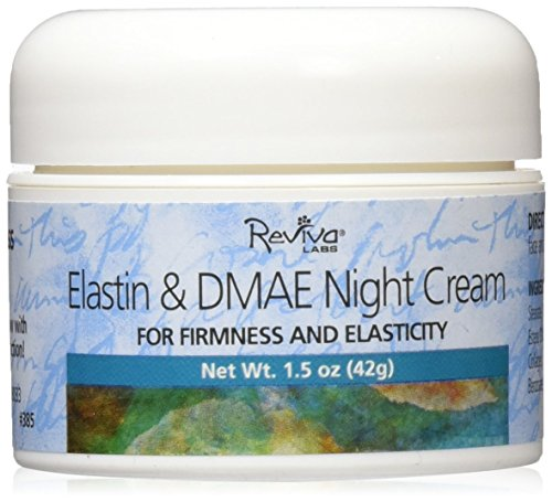 Reviva Labs Night Cream, Elastin & DMAE, 1.5 Ounce
