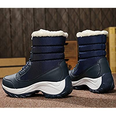 Duberess Women's Outdoor Fur Lined Waterproof Winter Snow Boots | Snow Boots