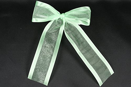 Mint Organza Satin Edge Ribbon - Dreampartycreation ( set of 10) Pre-made 1-1/2