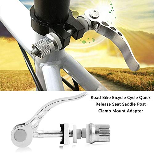 Plata Jullyelegant Nuevo Road Bike Bicycle Cycle Quick Release Seat Saddle Post Clamp Mount Adapter Nueva Marca