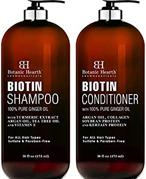 2-Pack Botanic Hearth Biotin Shampoo and Conditioner Set 16 Fl Oz