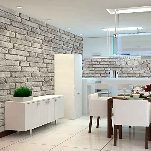 White Brick Wallpaper Kitchen: Faux Brick Wallpaper: Amazon.com