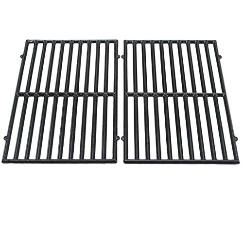 (Zljiont Porcelain Coated Cast Iron Rectangular Cooking Grid Set for Vermont Castings, ProChef, Ellipse and Kenmore Grills)