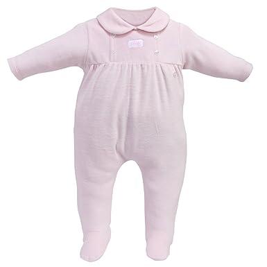 79e38ba8a Amazon.com: Baby 1 pc Footie Pajama Button Elegant Velour Sleep N Play  Footed Romper Sleeper: Clothing