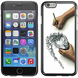 """Shell-Star ( Cool Draw Sketch Careful Think Spill ) Fundas Cover Cubre Hard Case Cover para 5.5"""" iPhone 6 Plus"""