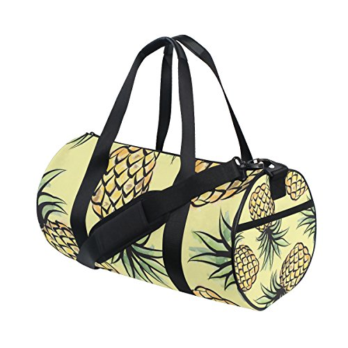 JSTEL Pineapple Tropical Jungle Sports Gym Bag for Women and Men Travel Duffel Bag (Pineapple Jungle)