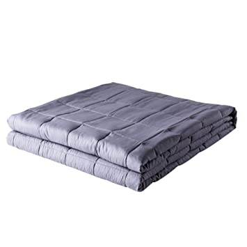 ZH Weighted Blanket Adult King/Queen Size - Manta de ansiedad Ayuda a la relajación