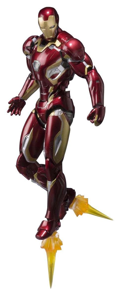 SH Figuarts Avengers Iron Man Mark 45 about 155mm ABS u0026 PVC u0026 die-cast painted action figure by Bandai