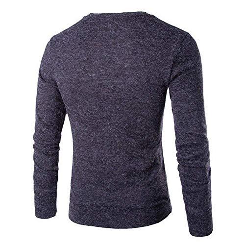 Con Cuello Suéter Modernas Para En Punto Manga Otoño Hombre Larga De Grau V Invierno Dunkel gw4qgzax