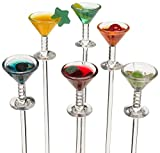 Prodyne Colorful Martini Picks Plastic, Multicolored (Set of 6)