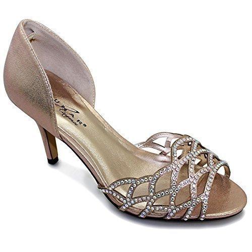 Seulement Brillante Strass À chaussure Découpe Champagne Femmes Talon Fantasia Pour Chaussures xwvUqUB