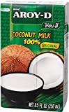Aroy-D 100% Coconut Milk, BPA-free, - 8.5 Oz Packages (16-pack), Paleo Compliant