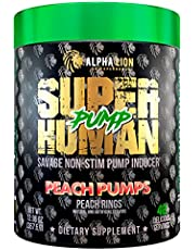 Alpha Lion Pump, Stimulant Free Preworkout, Balloon-Like Muscle Fullness Even After Your Workout (42 Servings)