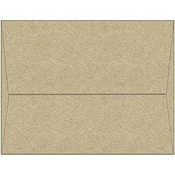 "100 Kraft A7 Envelopes - 7.25"" x 5.25"" - Square Flap"