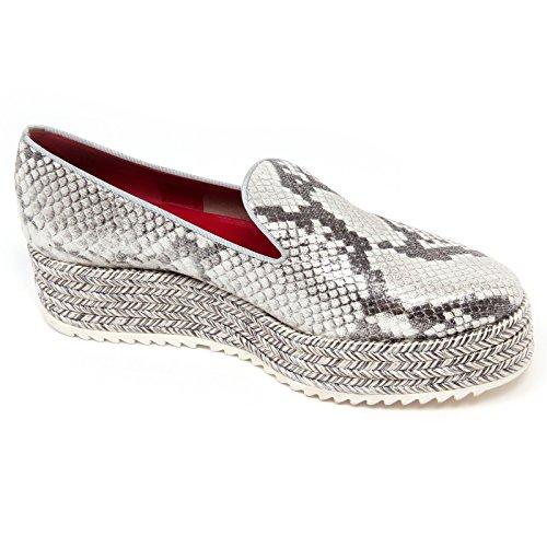 Woman Argento 8 ALHE Loafer Shoe UNO D0738 Mocassino UNO Avorio Avorio 181 Donna PTw1qq