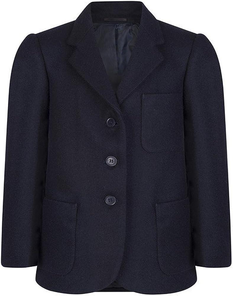 Girls Navy Beau Brummel Wool School Blazer