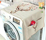 Topwon Fridge Dust Cover/Washing Machine Top Cover, Universal Sunscreen Cover with Storage Bag 55'' x 22'' (D)