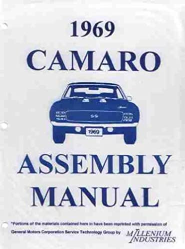 1969 chevrolet camaro factory assembly instruction manual includes rh amazon com 69 Camaro SS 69 Camaro RS