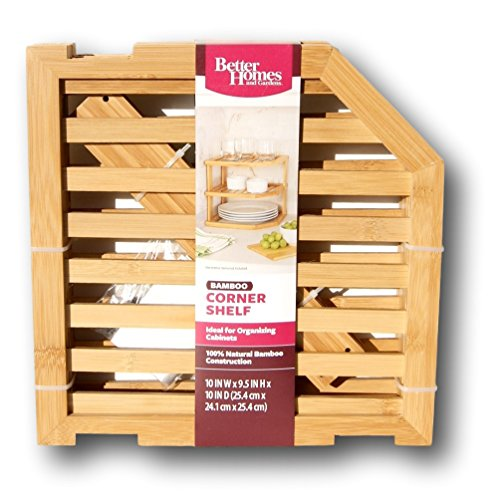 Review Better Homes and Gardens 2-tier Bamboo Corner Shelf By Better Homes & Gardens by Better Homes & Gardens