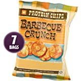 HealthSmart - Barbecue Crunch Protein Diet Chips - High Protein - Low Calorie - Low Fat - Low Carb - High Fiber - Healthy BBQ Weight Loss Chips (7 Bags)