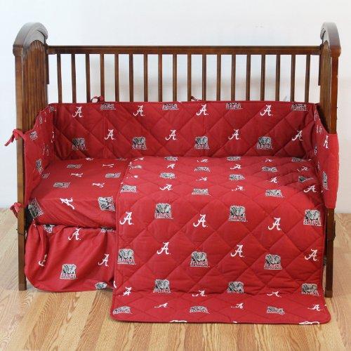 Alabama Bedding Set (NCAA Alabama Tide 5 Piece Crib Bedding Set, 52