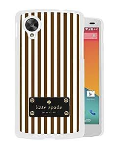 Unique Designed Kate Spade Cover Case For Google Nexus 5 White Phone Case 169