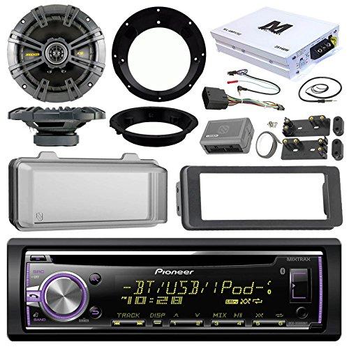 Pioneer DEH-X6900BT CD Receiver Bundle / 2 Kicker 6.5