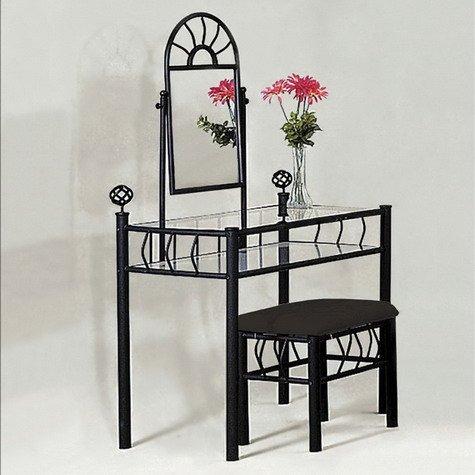 Crown Mark Foundry Vanity & Stool Table
