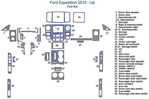 Ford Expedition Full Dash Trim Kit - Chrome Mirror Like