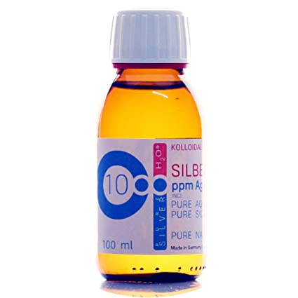 100ml Plata coloidal PureSilverH2O / Botella 100ml/10ppm ...