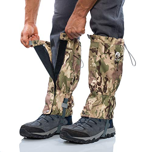 Pike Trail Leg Gaiters - Waterproof and Adjustable Snow Boot Gaiters for Hiking, Walking, Hunting, Mountain Climbing and Snowshoeing (Defense Force Camo)