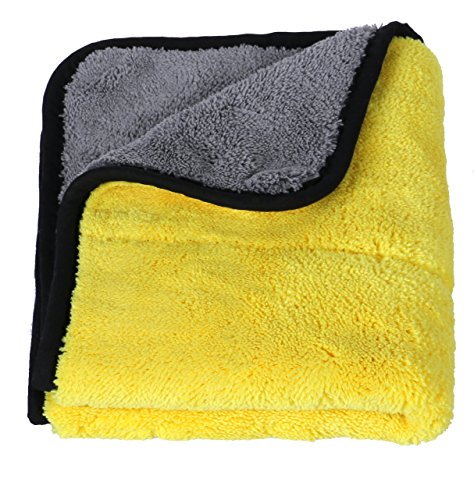 Lifaith Ultra Thick Plush Microfiber Car Cleaning Towels Buffing Cloths Super Absorbent Drying Auto Datailing Towel 15 x 17-Inch - Can On Scratches You Buff Out Car