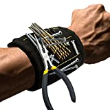 Zinuo Magnetic Wristband with Strong Magnets DIY Men Gifts for Screws,Nails,Bolts,Drill Bits,Fasteners,Scissors,and Other Handy Tools