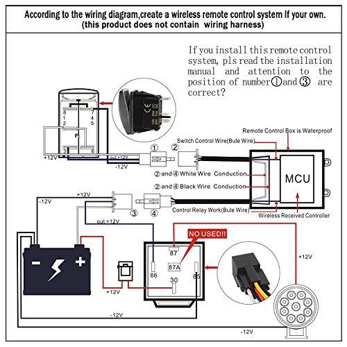amazon com somaer led light bar remote control switch wireless rh amazon com