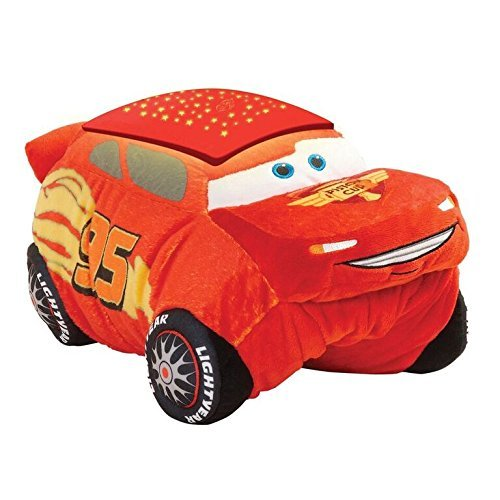 Disney Pixar Cars Pillow Pets - Cars 3 Lightning McQueen Dream Lites Stuffed Animal Night Light