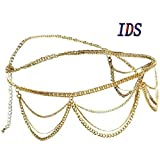 head chain gold - IDS Crown Head Chain Piece Head Chain Jewelry Gold