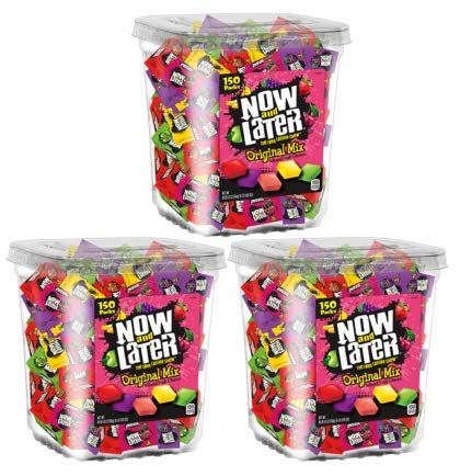 Now & Later Original Taffy Chews Candy, Assorted, 150 Count Chews, 90 Ounce Jar (Pack of 3) by Now and Later (Image #2)