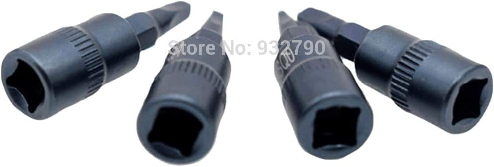 "4pcs Socket Bit Square SQ0 SQ1 SQ2 SQ3 Socket 1//4/"" Drive Screwdriver Bit Socket"